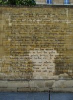 Poem by Rimbaud engraved on the wall of rue Henry de Jouvenel