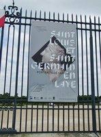 Poster on the Fence at Château de Saint-Germain-en-Laye