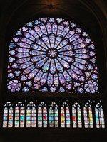 One of the Rose Windows in Notre Dame de Paris