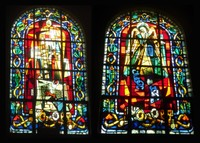 Stained glass windows by Max Ingrand at St. Pierre de Montmartre in Paris