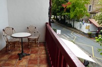 Our balcony in Hotel Oppoca across from the church in Ainhoa
