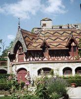 Burgundy roof on Château de la Rochepot near Beaune