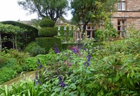 The Holker Hall Gardens from directly behind the Hall