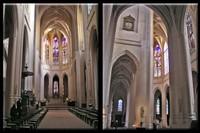 Nave and the Clock of Église Saint-Gervais-et-Saint-Protais