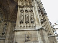 Detail on the Entry of Ste. Clothilde Church in Paris