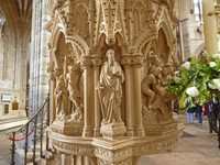The Martyr's Pulpit in the Nave of Exeter Cathedral