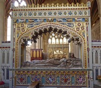 Tomb of Bishop Stafford (1419) in Exeter Cathedral
