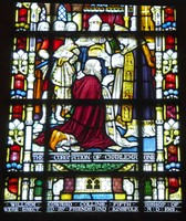 Crowning of Charlemagne - Stained Glass in Truro Cathedral