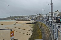 Wharf Road in St. Ives, Cornwall