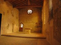 The lower chapel with frescoes in Lagrasse