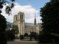 Notre Dame from Square Viviani in the Latin Quarter - Paris