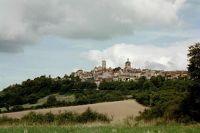 Vézelay on a distant hill
