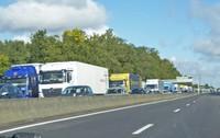 Major traffic jam on the AutoRoute