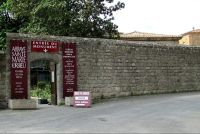 Entrance to the historic Abbey at Lagrasse