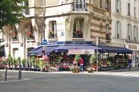 Flower shop at the corner of blvd. Raspail and rue de Vaugirard