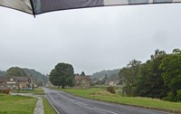 Walking to the Ryedale Folk Museum (in the rain)