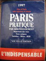 Historic 1997 Paris Pratique map book - Paris