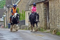 Riding through Lacock