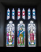 Stained glass in Saint Peter and Saint Paul's Church in Pickering