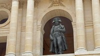 Statue of Napoleon in the Musée de l'Armée courtyard entrance