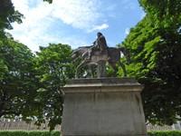 Statue of Louis XIII in Place des Vosges in Paris