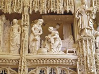 Detail of the choir screen at Notre Dame de Chartres