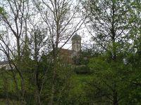 View of the Eglise Saint Jean l'Evangéliste from our courtyard near Bard-le-Régulier