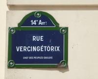Street sign for rue Vercingétorix in the 14th arrondissement of Paris