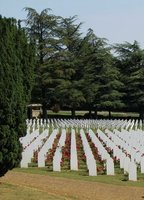Small part of the cemetery at the Douaumont Ossuary near Verdun