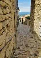 Mt. Ventoux on the walk back down into Lacoste