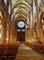 Rose Window and organ at the Strasbourg Cathedral
