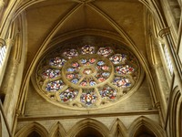 Rose Window in Cathedral of the Blessed Virgin Mary in Truro