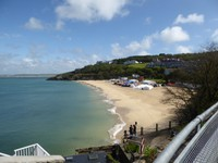 Leaving St. Ives on the train . . . with sunshine