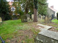 Cemetery at Saint Peter and Saint Paul's Church in Pickering