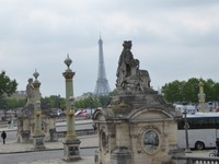 The Eiffel Tower from the Place de la Concorde