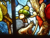 King David from The Tree of Jesse window