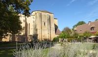 Église Saint-Martial at Paunat from the restaurant garden