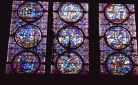 Stained Glass at Sainte-Chapelle, Paris