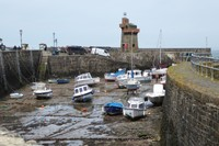 Low tide along the West Lyn River into the Bristol Channel