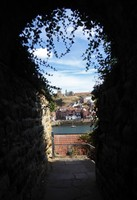 View from the top of the hill across from the Abbey at Whitby