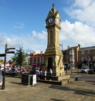 Clock Tower in Market Square in Thirsk