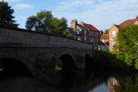 Bridge Street over Cod Beck in Thirsk