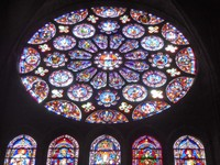 Chartres Cathedral, south transept rose window, c. 1221–1230