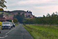 Approaching Beynac-et-Cazanac on the D703