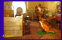 Château de Cheverny Bedroom with a Fontaine Fable Lego fox and crow