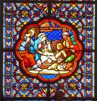 Stained Glass Window  at Basilica Ste. Clotilde in Paris