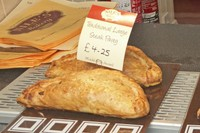 Pasties at one of the many local bakeries in Fowey