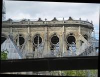 Notre Dame de Paris with temporary covering