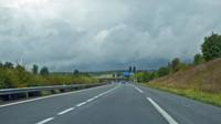Passing the Aire du Bois de Dourre on the A20