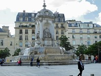 Fountain of the Orators in front of St. Sulpice Church in Paris
